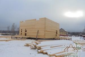 Строительство 2 этажа брусового дома