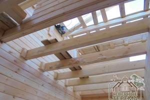 Потолочные балки 1 этажа, вид наверх