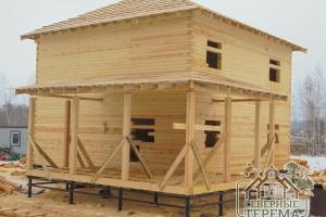 Дом под усадку по проекту Заказчика