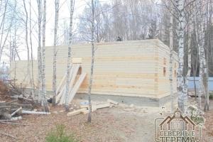 22 ряда дома из бруса, строительство продолжается