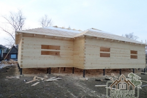 Установка изоляции крыши и обрешетки